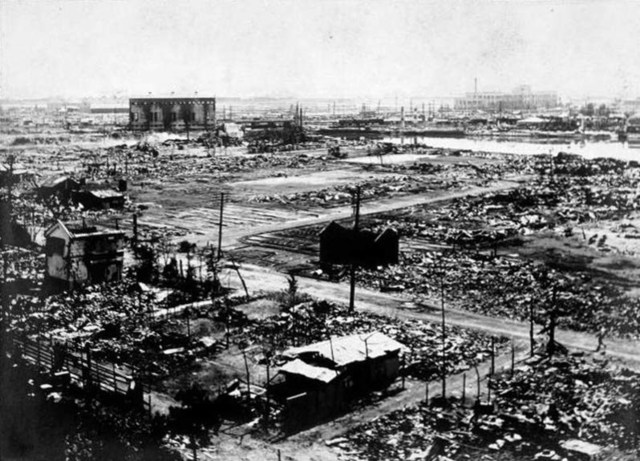 Yokohama after the earthquake