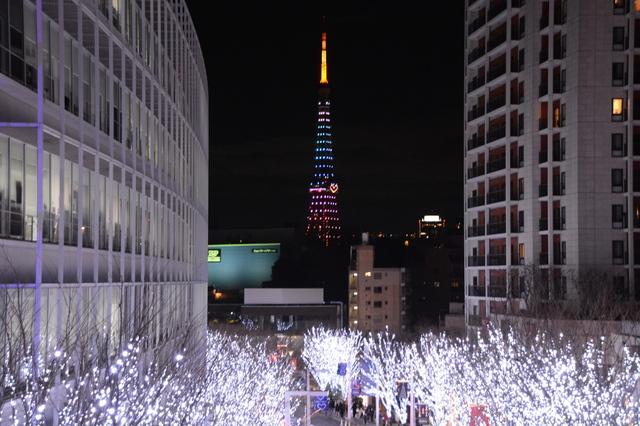 Tokyo Tower view from Keyaki-zaka