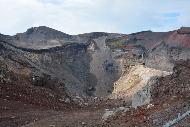 The crater of the top of Mt. Fuji