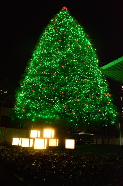 Christmas tree of Hotel Ōkura