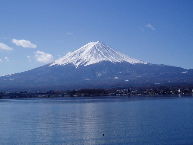 Mt. Fuji and Lake Kawaguchi-ko