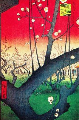 Hiroshige Utagawa; A Plum Garden in Kameido