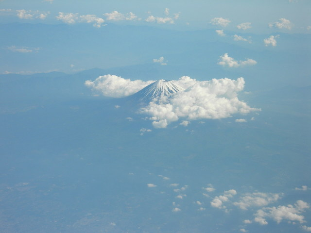 Mt. Fuji from airplane
