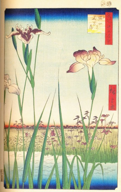 Hiroshige Utagawa; Horikiri Shōbu-en