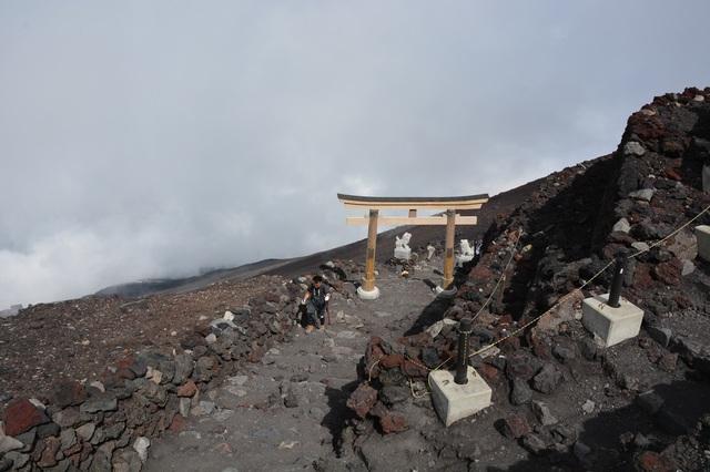 The top of Yoshida, Subashiri Trail
